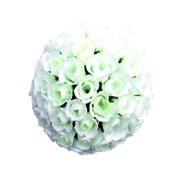 12 Inch - Artificial Plastic Hanging Flower Ball - Flower Decoration - White Color