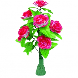 3.5 FT - Artificial Plastic Flower Plant - Flower Tree with Pot - Multi Color