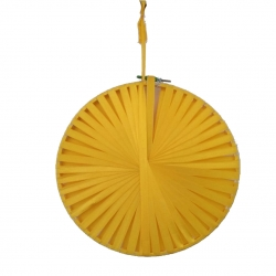 12 INCH & 16 INCH - Rajasthani Wall Hanging Handicraft Made By Ribon - Yellow Color
