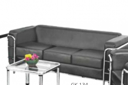 3 Seater Sofa with Stainless Steel Frame, Ideal for - Office , Living Room & Reception.