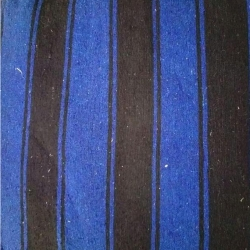 7 FT X 10 FT - Premium - Heavy Acralyic - Dari - Dhurrie - Rugs - Satranji - Floor Mat - Black & Blue color - Weight - 2.5 Kg