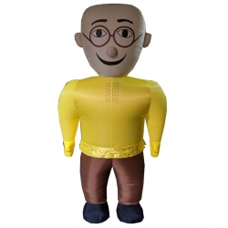Patlu Character Air Inflatable Indoor & Outdoor Walking / Made Of PVC Vinyl With  Battery - Single Piece