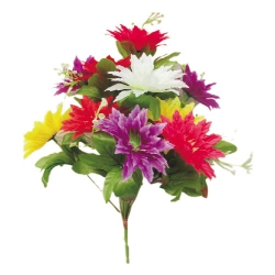 Artificial Flower Bunches / Fake Flowers Artificial Plant For Wedding / Reception / Home Decor / Multi Color