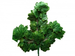 Maple Leaf Style Artificial Cloth  / Green Color.