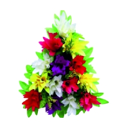 10 Inch - Artificial Plastic Flower Bouquet - Flower Decoration - Multi Color