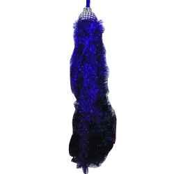 2 ft Hanging Fur / Lout-con / Wall Hanging / Sparkled Fur / Nevi Blue Color .