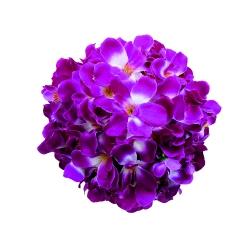 12 Inch - Artificial Plastic Hanging Flower Ball - Flower Decoration - Purple Color
