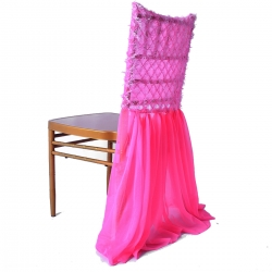 Neet Sivalic Chair cover With Tikle Work - Pink Color