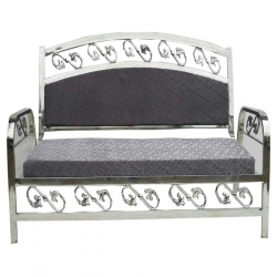 VIP Sofa Made Of Stainless Steel - 3 Seater - Gray Color.