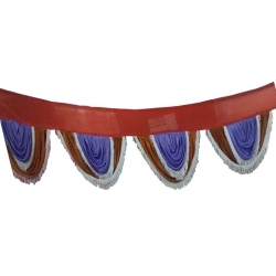 Red & Blue Color - Jhalar - Mandap Jhalar For Wedding & Party - Made of Satin Cloth