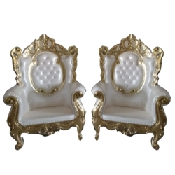 Traditional Design Varmala Sofa - Single seat Udaipur Sofa - Pair Of 1 (2 Pieces)  White Color