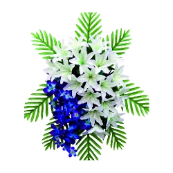 1.5 FT X 2 FT - Artificial Plastic Flower Bouquet - Flower Decoration - Multi Color