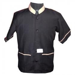 Helper Boy Uniform - Unisex Uniform - Kitchen Apparel - Half Sleeve - Black Color  (Available size 38 , 40 , 42 , 44 , 46 , 48)