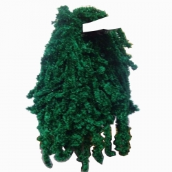 Decoration Sparkled Fur - Green Color.