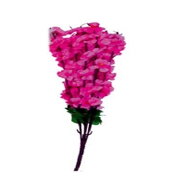 10 Inch - Artificial Plastic Flower Bunches - Cherry Blossom - Flower Decoration - Pink Color