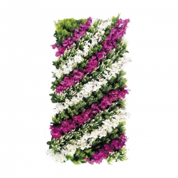 4 FT X 2 FT - Artificial Flowers Wall - Flower Decoration - Multi Color