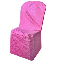 Warp Netting Jecard Print Chair Cover - Pink Color