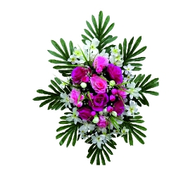 1.5 FT X 2 FT - Artificial Plastic Flower Bouquet - Flower Decoration - Multi Color
