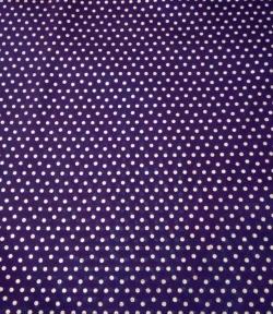 2.5MM Bharchak - Glitter - 24 Gauge Brite Lycra - 54 Inch Panna - Small Round Tikli Work - Purple Color .