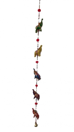 Rajasthani Elephant Paper Mache Door Hanging /Multi Color