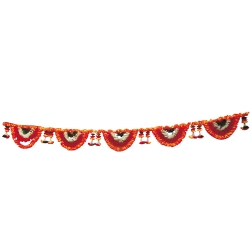 10 Feet Plastic Artificial Flower Toran Garland Jhalar , Main Door Hanging for Wedding & Decoration / Multi color.