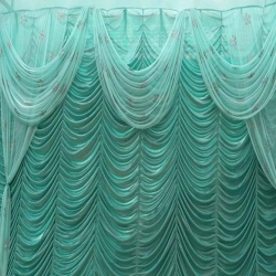 10 FT X 15 FT - Mandap Stage Parda - 26 Gauge Brite Lycra - Heavy Embroidery - Wall Parda For Wedding Function - Multi Colour