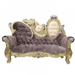 Lilac Color - Udaipur - Rajasthani - Heavy - Couches - Sofa - Wedding Sofa - Wedding Couches - Made of Wooden & Metal.
