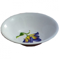 10 Inch Donga Curry Bowls - Dessert Bowls - Made Of Food Grade Virgin Plastic - White Print Color