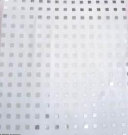 6MM Square Bharchak - Ton To Ton - 24 Gauge Brite Lycra - 54  Inch Panna - Square Medium  Tikli Work - White Color .