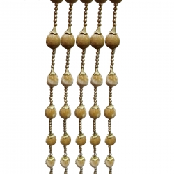 4 FT - Round Small Ball Ladi - Door Hanging Lout-Con - Golden Color.