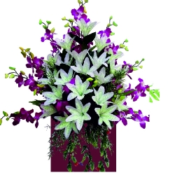 1.5 FT X 1.5 FT - Artificial Plastic Flower Bouquet - Flower Decoration - Multi Color