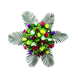 2 FT - Artificial Plastic Flower Bouquet - Flower Decoration - Multi Color