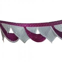 Pink & White Color - Jhalar - Mandap Jhalar For Wedding & Party - Made Of Heavy Satin Cloth