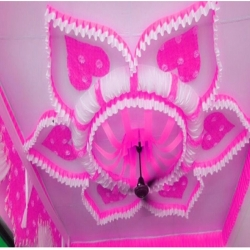 Designer Mandap Ceiling - Top 14 Kg Taiwan - 24 Gauge - Pink & White Color