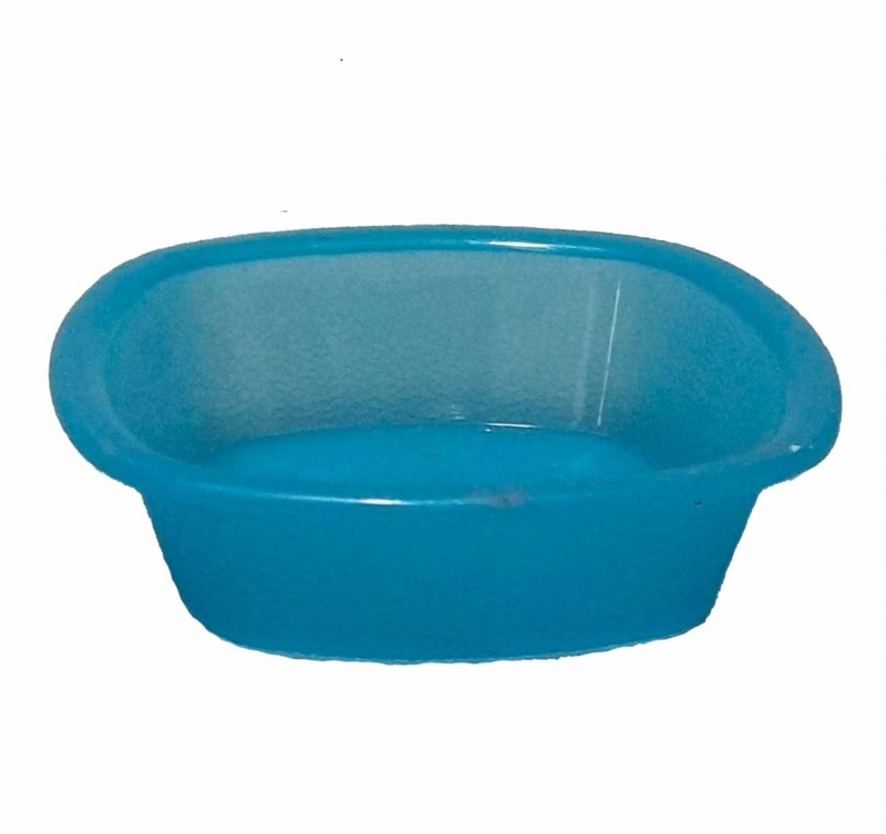4 Inch - Square Bowls - Curry Bowls - Made Of Food-Grade Regular Plastic - Sky Blue Color