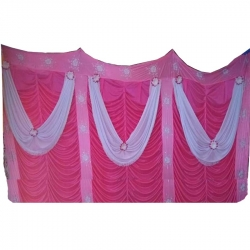 Mandap Stage Parda - Side Wall Parda - Stage Curtain - Background Curtain - Multi Color