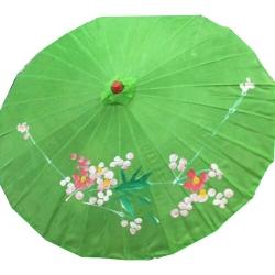 32 Inch - Green Color - Chinese Umbrella - Fancy Umbrella - Decorative Umbrella - Chatri