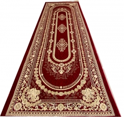 Chenille Carpet (5 Ft X 15Ft)For Banquet Hall / Outdoor Stage and Entry Gate / Maroon Color.