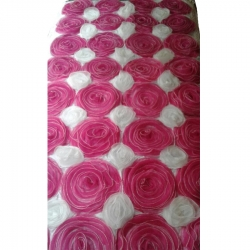 4 FT X 8 FT - Artificial Flower Panel - Back Material Taiwan Cloth - White & Pink Color