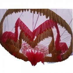 Designer Mandap Ceiling Cloth - Design Brite Lycra Cloth - Red & White Color