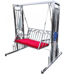 Swing - Jhula - Hammock - Made of Stainless Steel - Red Color - Weight - 35 Kg