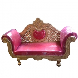 Wooden Sofa - Wedding Reception Sofa - Heavy Couches - Pink Color.