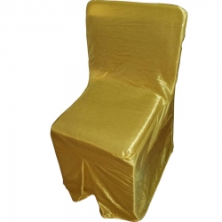 Heavy Chandni Cloth Chair Cover For Plastic Chair - Yellow Color.