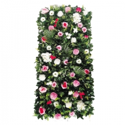 4 X 2 Plastic Flowers Wall For Party / Wedding / Office Decoration / Multi Color