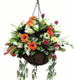 Plastic Artificial Flower ,Hanging Basket, Latkan,  Door Hanging For Wedding & Decoration
