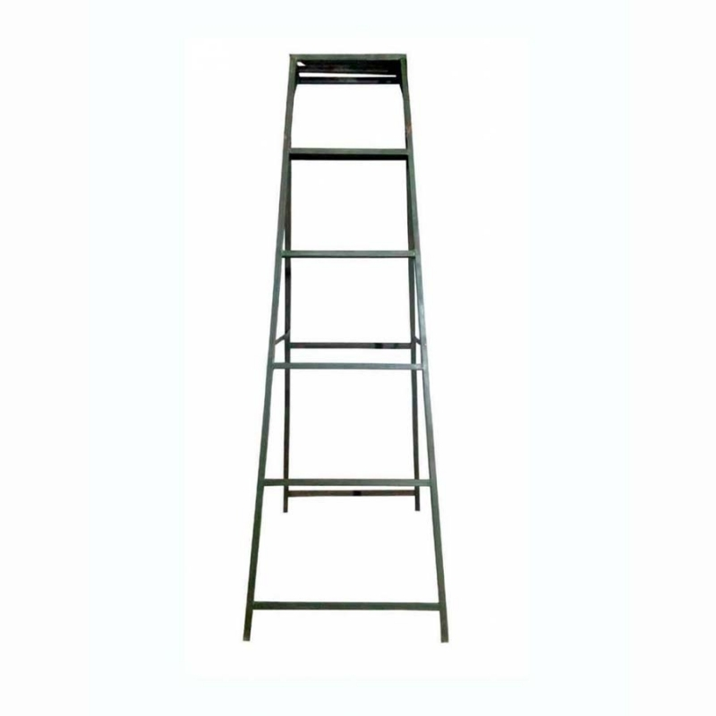 7 Feet Light Weight Iron Ladder - Foldable Ladder  - Black Color.