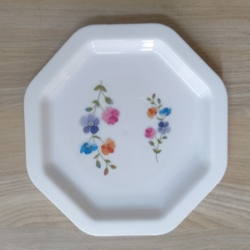7 Inch - Printed Nasta Plate - Nasta Plate - Snacks Plate - Made Of Plastic Unbreakable - White Color