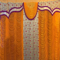 12 FT X 15 FT - Designer Curtain - Parda - Stage Parda - Wedding Curtain - Mandap Parda - Back Ground Curtain - Side Curtain - Made Of 24 Gauge Brite Lycra - Multi Color