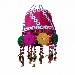 2.5 FT - Jhumar - Parrot Hanging Jhumar - Ceiling Jhumar - Multi Color
