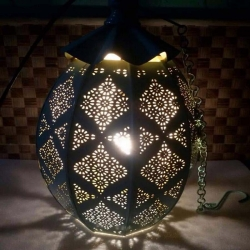 18 Inch - Decorative Lanterns - Hanging Lanterns - Khandil - Made of Iron.